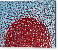 Acrylic Print featuring the photograph Red  And Blue Drops by Vladimir Kholostykh