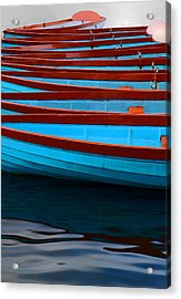 Red And Blue Paddle Boats Acrylic Print