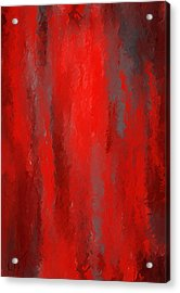 Red And Bold - Red And Gray Art Acrylic Print by Lourry Legarde
