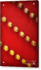Red And Gold Chinese Door Acrylic Print by Carol Groenen