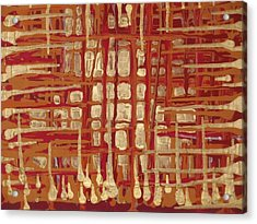 Red And Gold No.1 Acrylic Print by Samuel Freedman