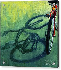 Red And Green - Bike Art Acrylic Print