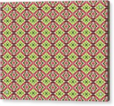 Acrylic Print featuring the digital art Red And Green by Elizabeth Lock