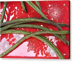 red and green N2 Acrylic Print by Evguenia Men