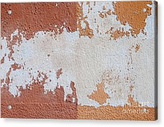 Red And Orange Abstract Acrylic Print by Elena Elisseeva