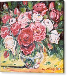 Red And White Roses Acrylic Print