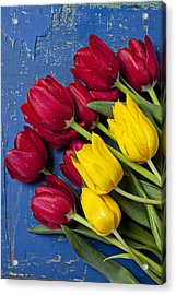 Red And Yellow Tulips Acrylic Print by Garry Gay