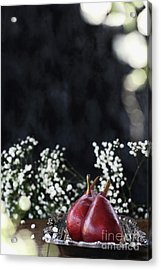 Acrylic Print featuring the photograph Red Anjou Pears by Stephanie Frey