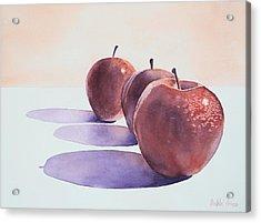Red Apples Acrylic Print by Bobbi Price