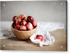 Red Apples Still Life Acrylic Print by Nailia Schwarz