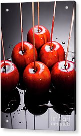Red Apples With Caramel  Acrylic Print by Jorgo Photography - Wall Art Gallery