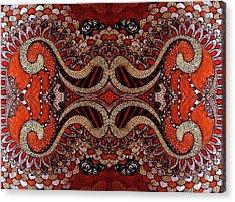 Red Acrylic Print by Ariela