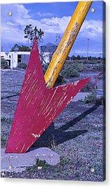 Red Arrow Head Acrylic Print