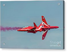 Acrylic Print featuring the photograph Red Arrows Crossover by Gary Eason