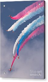 Red Arrows Display Acrylic Print