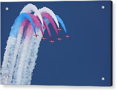 Red Arrows Acrylic Print by Jonathan Simons