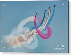 Acrylic Print featuring the photograph Red Arrows Twister by Gary Eason