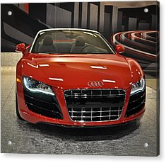 Red Audi R8 Seattle Auto Show 2011 Acrylic Print