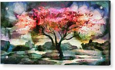 Red Autumn Tree Acrylic Print