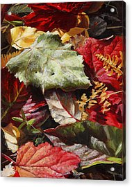 Red Autumn - Wasilla Leaves Acrylic Print