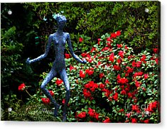 Acrylic Print featuring the photograph Red Azalea Lady by Susanne Van Hulst