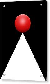 Red Ball 28b V Acrylic Print