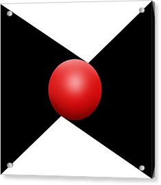 Red Ball S Q 1 Acrylic Print