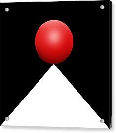 Red Ball S Q 3 Acrylic Print