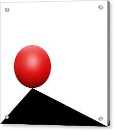 Red Ball S Q 7 Acrylic Print
