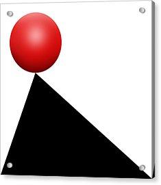 Red Ball S Q 9 Acrylic Print