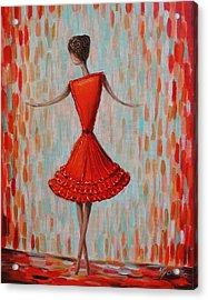 Red Ballerina Acrylic Print