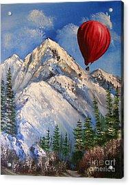 Red Balloon  Acrylic Print by Crispin  Delgado