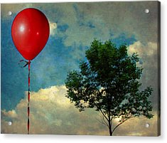 Red Balloon Acrylic Print by Jessica Brawley