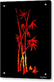 Red Bamboo Acrylic Print by Greg Patzer