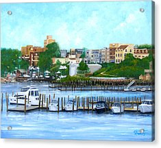 Red Bank From The Molly Pitcher Hotel Acrylic Print