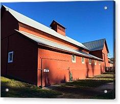 Red Barn, Blue Sky Acrylic Print