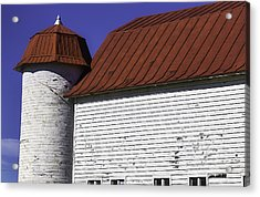 Red Barn Close Up Acrylic Print