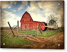 Red Barn Dent County Acrylic Print