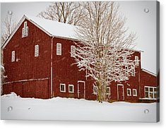 Red Barn IIi Acrylic Print by Tim Fitzwater