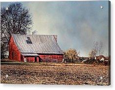 Red Barn In Late Fall Acrylic Print