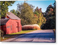 Red Barn In The Country Acrylic Print
