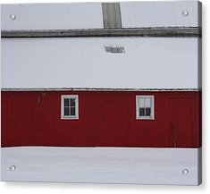 Red Barn  Acrylic Print by Julie Lueders