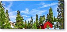 Red Barn On A Hill Acrylic Print