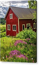 Red Barn On A Summer Day Acrylic Print