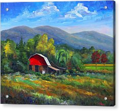 Red Barn On Cane Creek Acrylic Print by Jeff Pittman