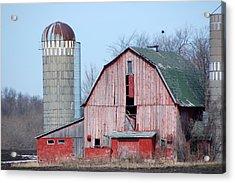 Red Barn On Texas Avenue Acrylic Print by Mary Pearson