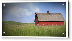 Red Barn Pano Acrylic Print