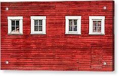 Red Barn Side Acrylic Print by Todd Klassy