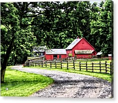 Red Barn Acrylic Print by Susan Savad