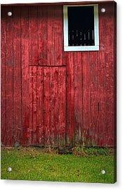 Red Barn Wall Acrylic Print by Steve Gadomski